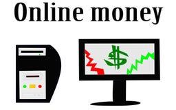 Illustration online money making Royalty Free Stock Photo