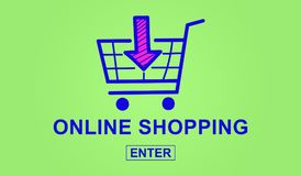 Concept of online shopping Royalty Free Stock Photos