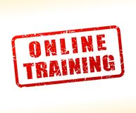 Online training text buffered Stock Photos