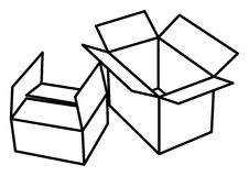 Illustration of open boxes Stock Photo