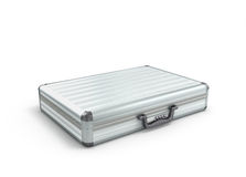 Illustration of an open metal case with black handle Royalty Free Stock Photo
