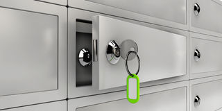 Illustration of Open Safe Deposit Boxes, Realistic object Stock Photos