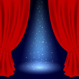 Theatre curtain Stock Photos