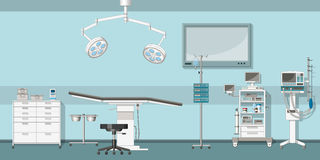 Illustration of a operating room Stock Photography