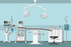 Illustration of a operating room Stock Images