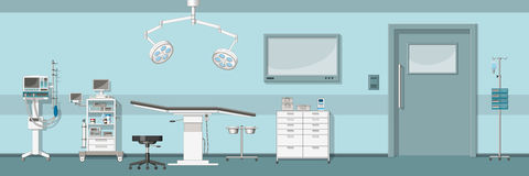 Illustration of a operating room. Illustration of a modern operating room Royalty Free Stock Images