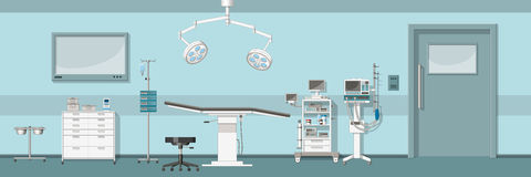 Illustration of a operating room. Illustration of a modern operating room Royalty Free Stock Photo