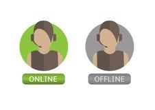 Illustration of  Operator icons Stock Image