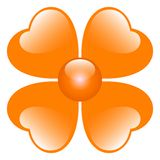 Illustration orange de fleur Photo stock