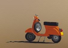 Illustration orange de scooter Image libre de droits