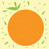 Illustration orange de vecteur de fruit Photos libres de droits