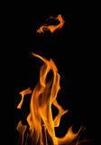 Illustration with orange fire isolated on black Royalty Free Stock Image