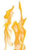 Illustration with orange fire on white Royalty Free Stock Photo