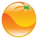 Illustration of orange fruit icon clipart Stock Image