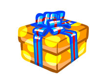 The illustration of an orange present box. Stock Photos
