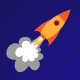 Illustration of orange rocket Royalty Free Stock Photos
