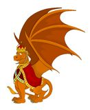 Orange emperor or king dragon cartoon royalty free illustration
