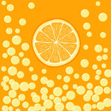 Illustration of orange slice in bubbly drink Stock Photos