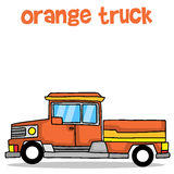 Illustration of orange truck transport Royalty Free Stock Image