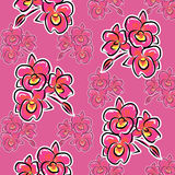 Illustration orchid flower pattern Royalty Free Stock Image