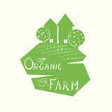 Illustration of an organic farm. As a sign against the felling of trees Royalty Free Stock Photography