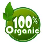 Organic 100% - Logo vector ilustration. An illustration of a 100% organic logo design , vector stock illustration