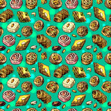 Illustration orientale de bonbons Images stock