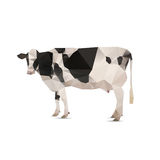 Illustration of origami cow Royalty Free Stock Photo