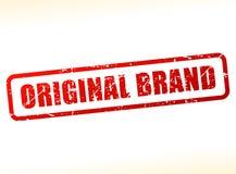 Original brand text stamp. Illustration of original brand text stamp Stock Photography