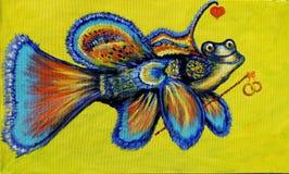 illustration Orlando fisk med cirklar arkivbild