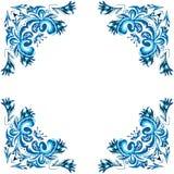 Illustration of ornate winter frame. Illustration of blue ornate winter frame Stock Photo