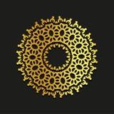 Illustration ornementale de mandala de vecteur linéaire d'or Abstrait logo de calibre de contexte de schéma Beauté d'or décorativ illustration de vecteur