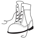 Outline of the one shoe Royalty Free Stock Photos