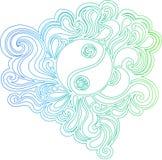 illustration outlined vector yang yin Στοκ φωτογραφία με δικαίωμα ελεύθερης χρήσης