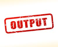 Output text buffered. Illustration of output text buffered on white background Stock Photos