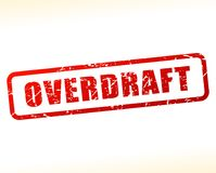 Overdraft text buffered. Illustration of overdraft text buffered on white background Royalty Free Stock Photos