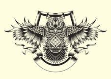Illustration of owl Royalty Free Stock Photos
