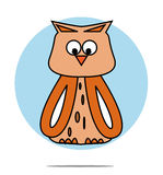 Illustration of a owl Royalty Free Stock Images