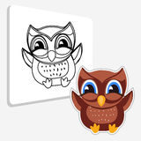 Illustration owl. Coloring book Royalty Free Stock Image