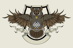Illustration of an owl Stock Images