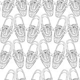 Illustration of oxfords shoes, doodle hipster lace-Ups shoes, Stock Images