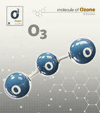 Illustration of Oxygen Molecule isolated grey background Royalty Free Stock Photography