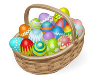 Illustration of painted Easter eggs royalty free illustration
