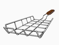 Illustration of painted grill for a barbecue Stock Photos