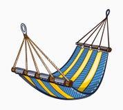 Illustration of painted hammock Stock Photo