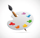 Painters palette cartoon Stock Photography