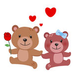 Illustration of a pair of bear Royalty Free Stock Photos