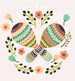 Illustration Pair Colorful Maracas Royalty Free Stock Image