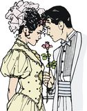 Illustration of a pair of lovers Stock Images
