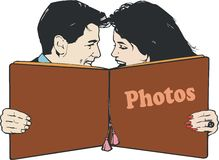 Illustration of a pair of lovers Stock Photography